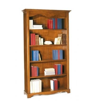 Libreria Classica 5 ripiani tinta noce W514/N