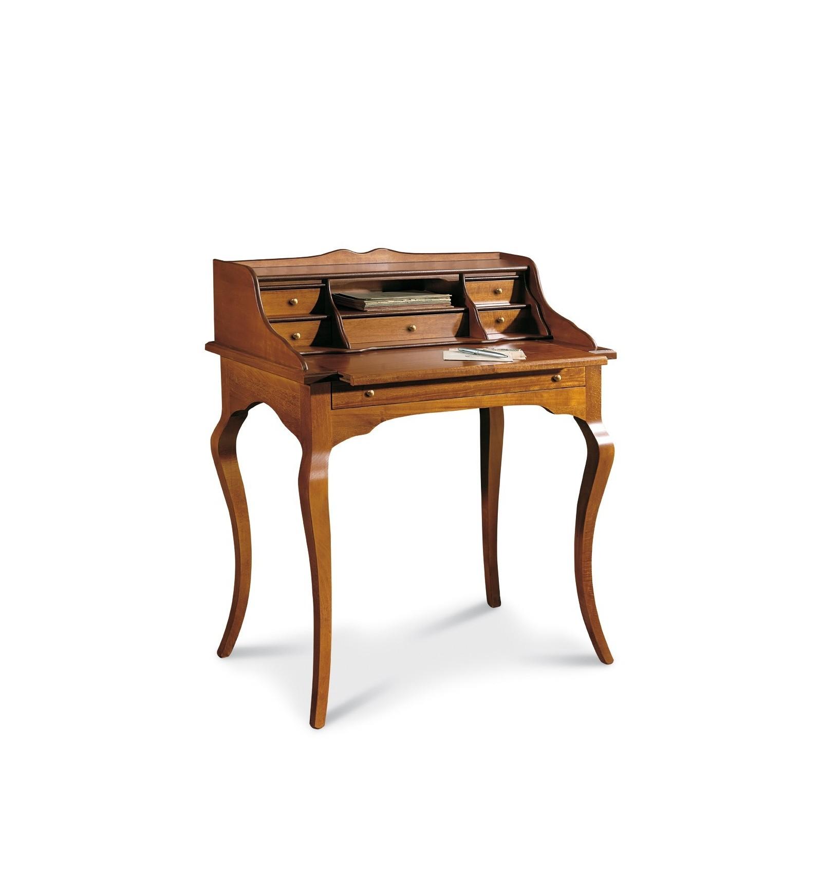 Scrittoio Per Scrivania.Scrittoio Scrivania 7 Cassetti Piano Estraibile Classico Noce W532 N