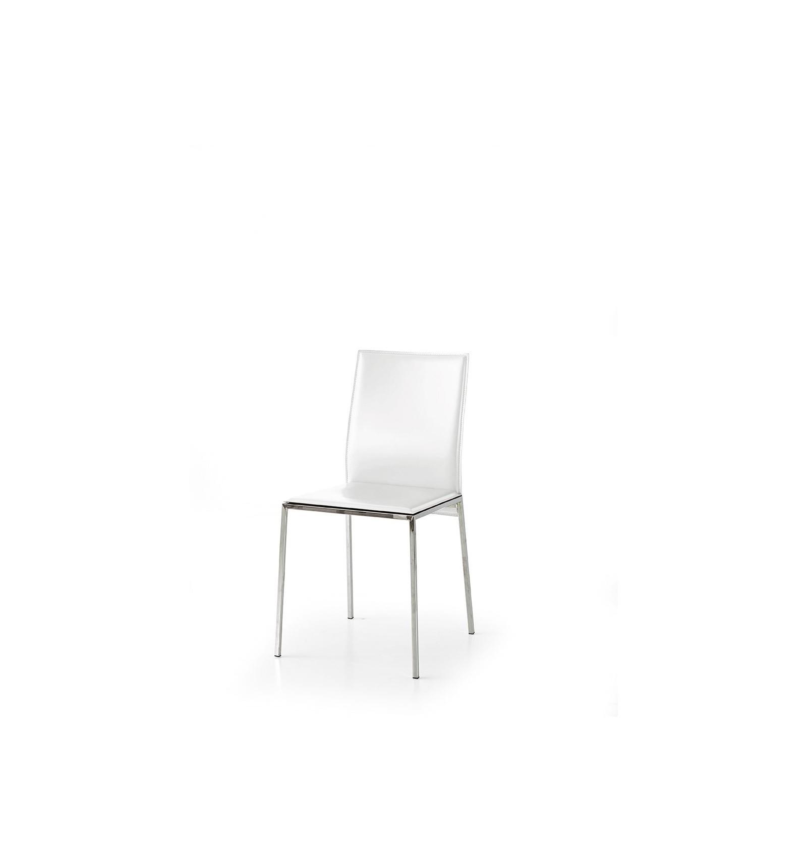 Set 2 sedie ecopelle bianca art w660 m lo scrigno for Sedie bianche ecopelle