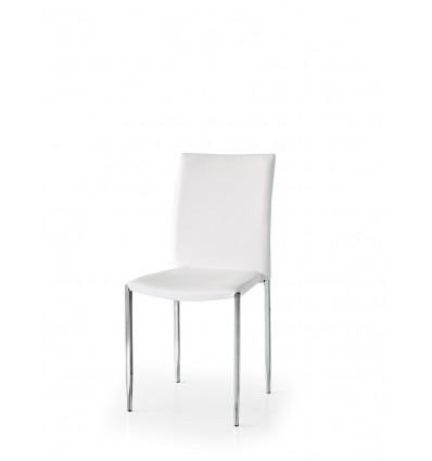 Set 4 sedie ecopelle bianche ART. W663/M - Lo Scrigno Arredamenti