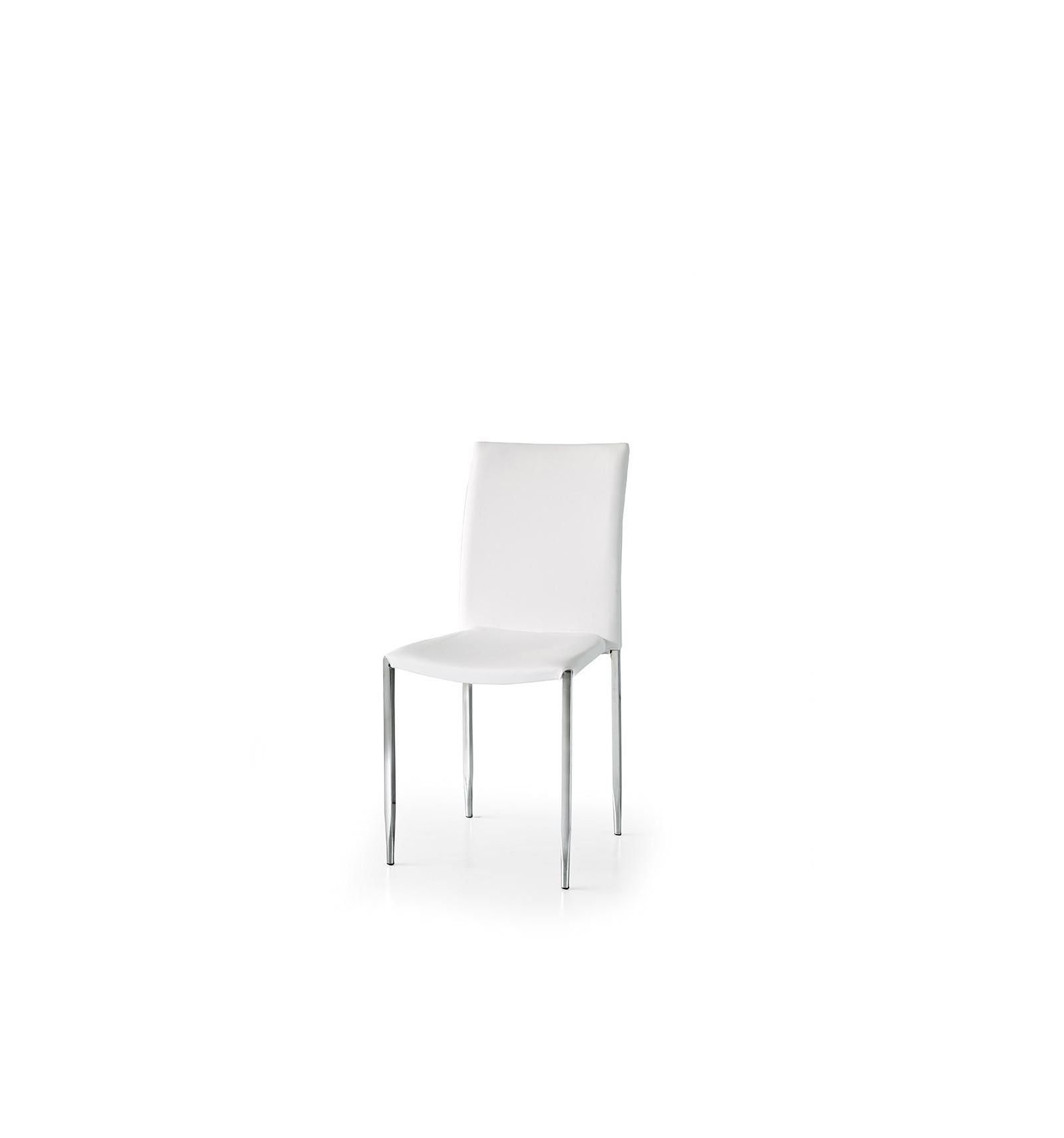 Set 6 sedie ecopelle bianco ART Lo Scrigno Arredamenti W679 ...