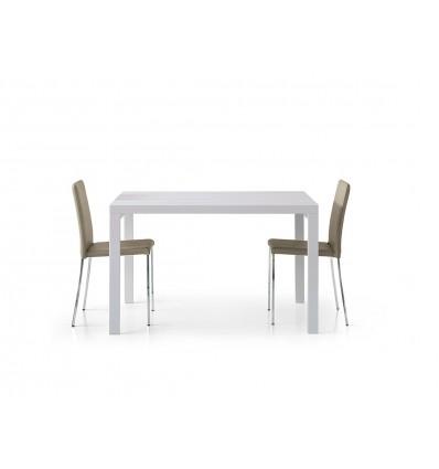 tavolo bianco frassinato 120x90, apribile a 240x90 ART. W666/MFL