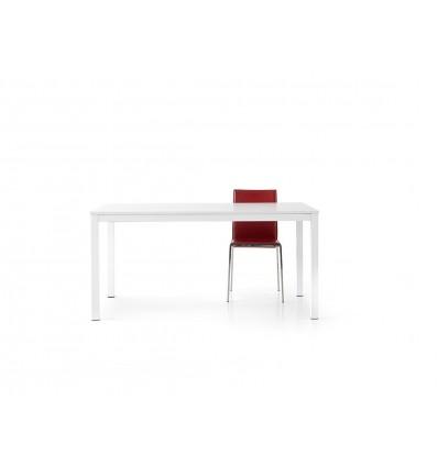 tavolo bianco frassinato con struttura in metallo allungabile ART. W688/MFL