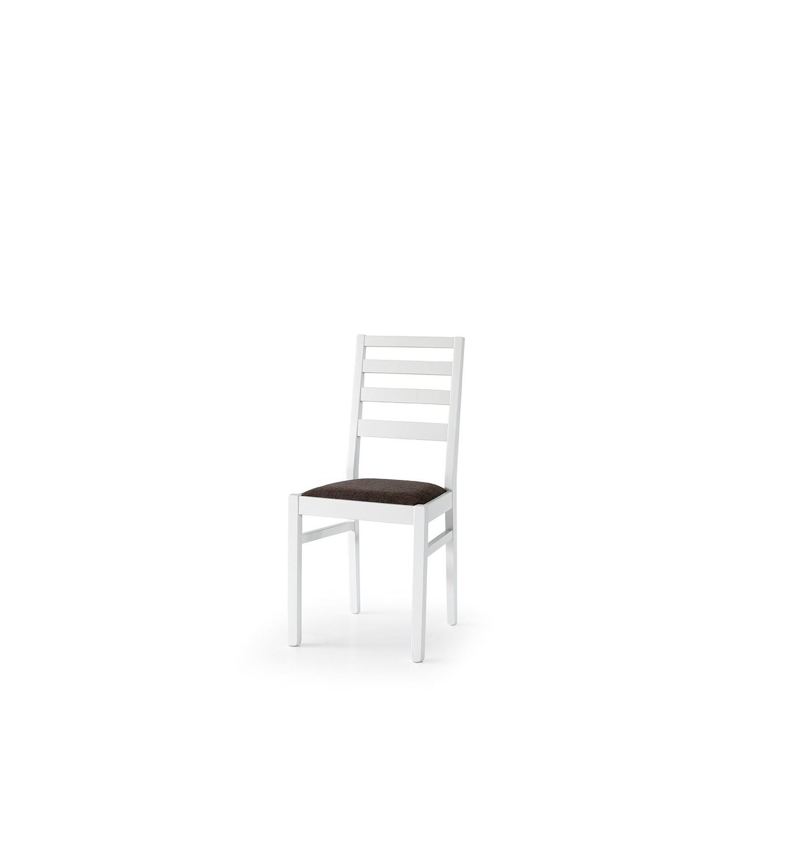 Set 2 sedie moderne in legno di faggio laccato bianco e sedile ...