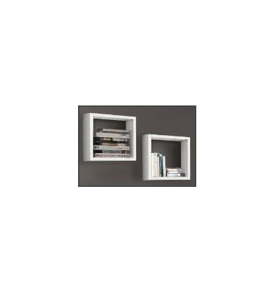 Libreria/Elemento 2 cubi Moderna bianco frassinato W572/M BIS