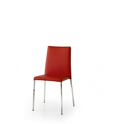 Set 2 sedie ecopelle rosso ART. W685/M