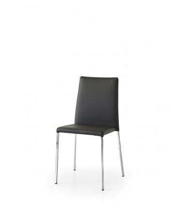 Set 2 sedie ecopelle nero ART. W686/M
