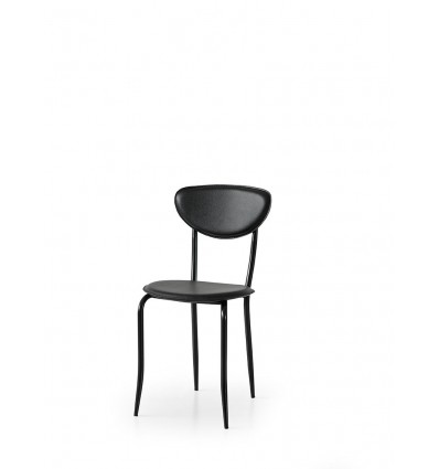 Set 6 sedie ecopelle nero ART. W680/M