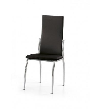 Set 4 sedie ecopelle nere w684 m lo scrigno arredamenti for Sedie nere ecopelle