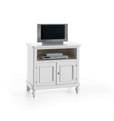 Porta Tv Classico Bianco.Porta Tv Classico 2 Porte 1 Vano Laccato Bianco Opaco W6057 Za