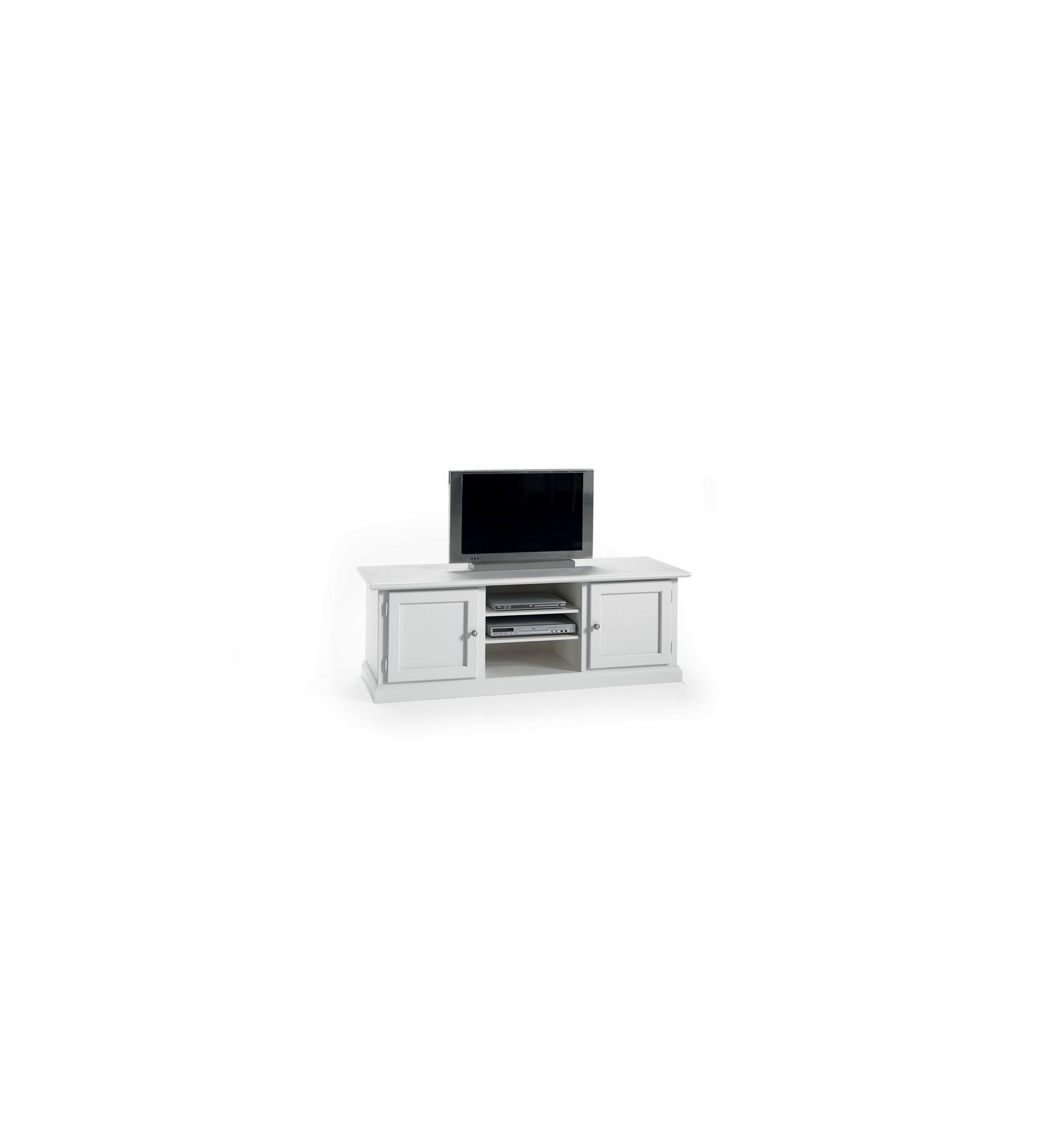 Base porta TV Classica 2 porte 3 vani laccato bianco W6056/ZA - Lo ...