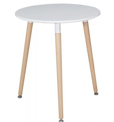 Tavolo Rotondo, top MDF, gambe in faggio