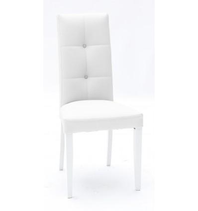 Set 2 sedie Ecopelle Bianca con Fusto Bianco