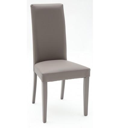 Set 2 sedie Ecopelle Grigio con Fusto Grigio - Lo Scrigno Arredamenti