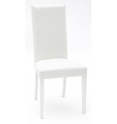 Set 2 Sedie Moderne Ecopelle Bianca con Fusto Bianco