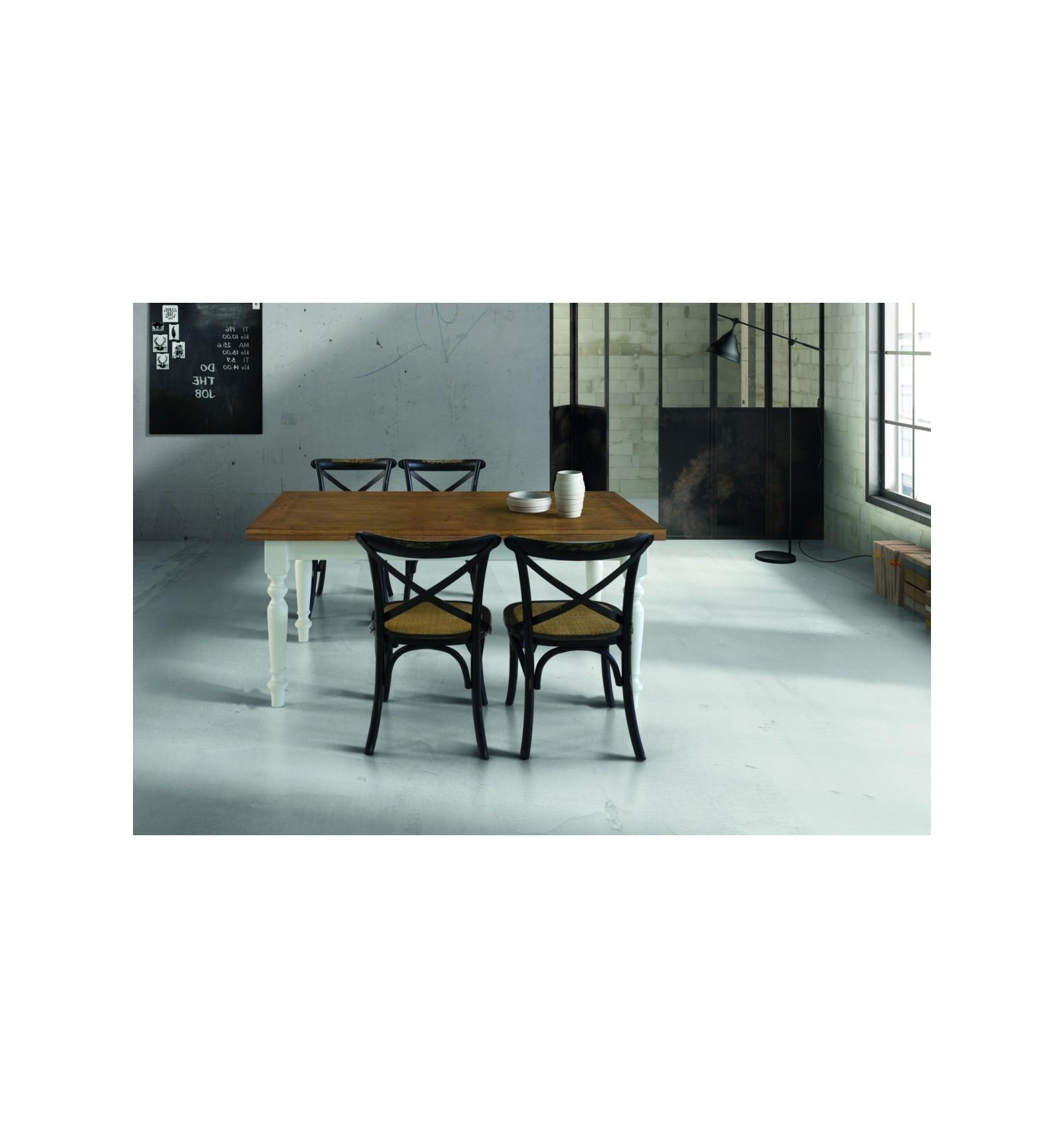 Tavolo rovere con 2 allunghe cm. 40 W715/M - Lo Scrigno Arredamenti