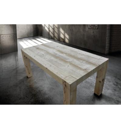 Tavolo in legno vecchio prima patina con 2 allunghe cm. 50 W787/