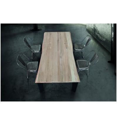 Tavolo massello nodo aperto sp. 6 cm W790/M
