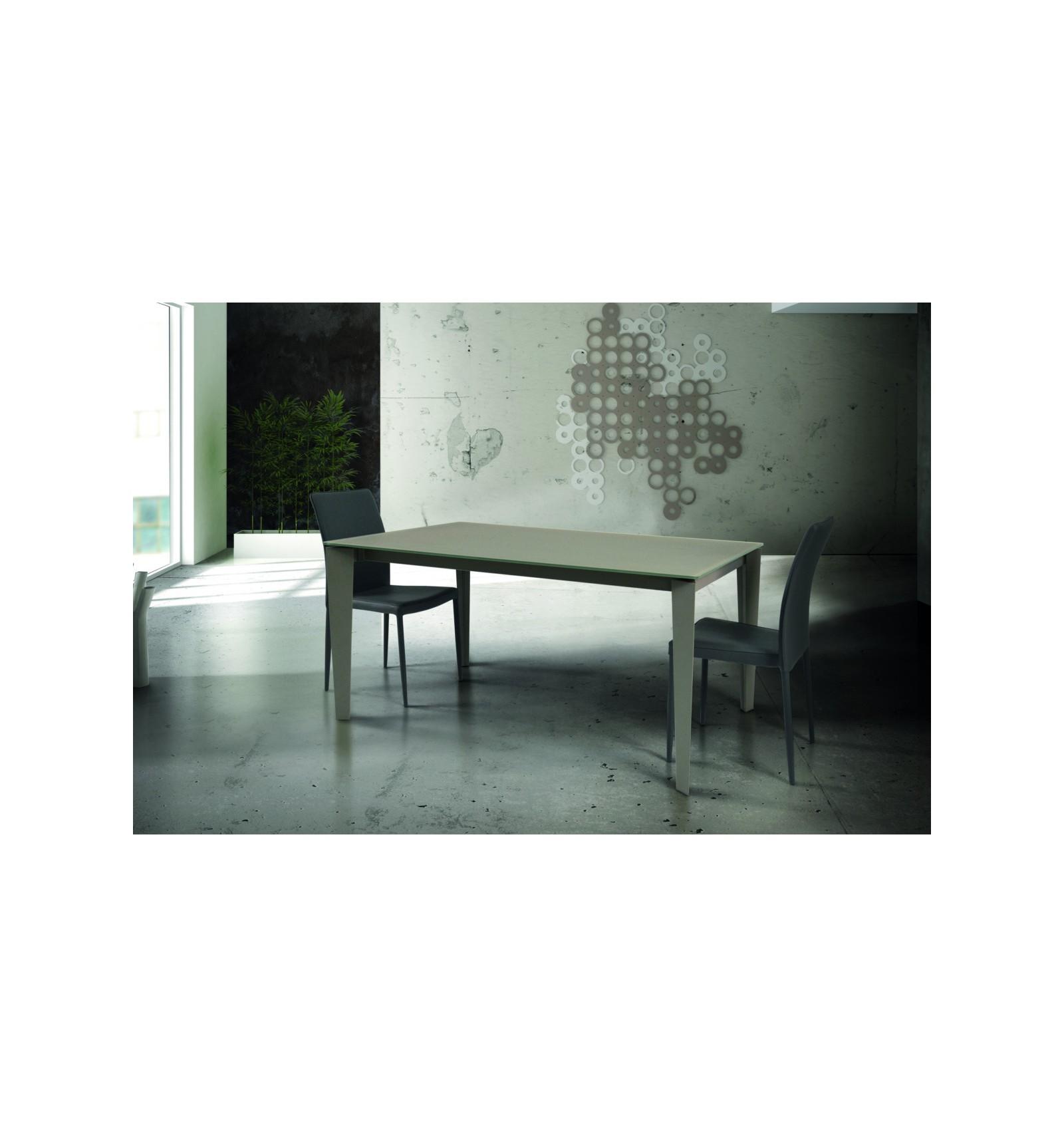 Tavolo vetro con 2 allunghe da cm 50 W828/M - Lo Scrigno Arredamenti