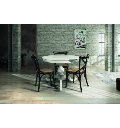 Tavolo rotondo con allunga da cm 40 W1468/M