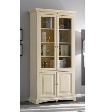 Libreria per soggiorno laccata 2 porte W230NS
