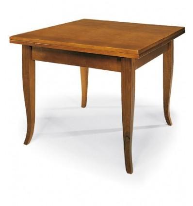 Tavolo quadrato allungabile a libro Classico 100-200 W140/NC