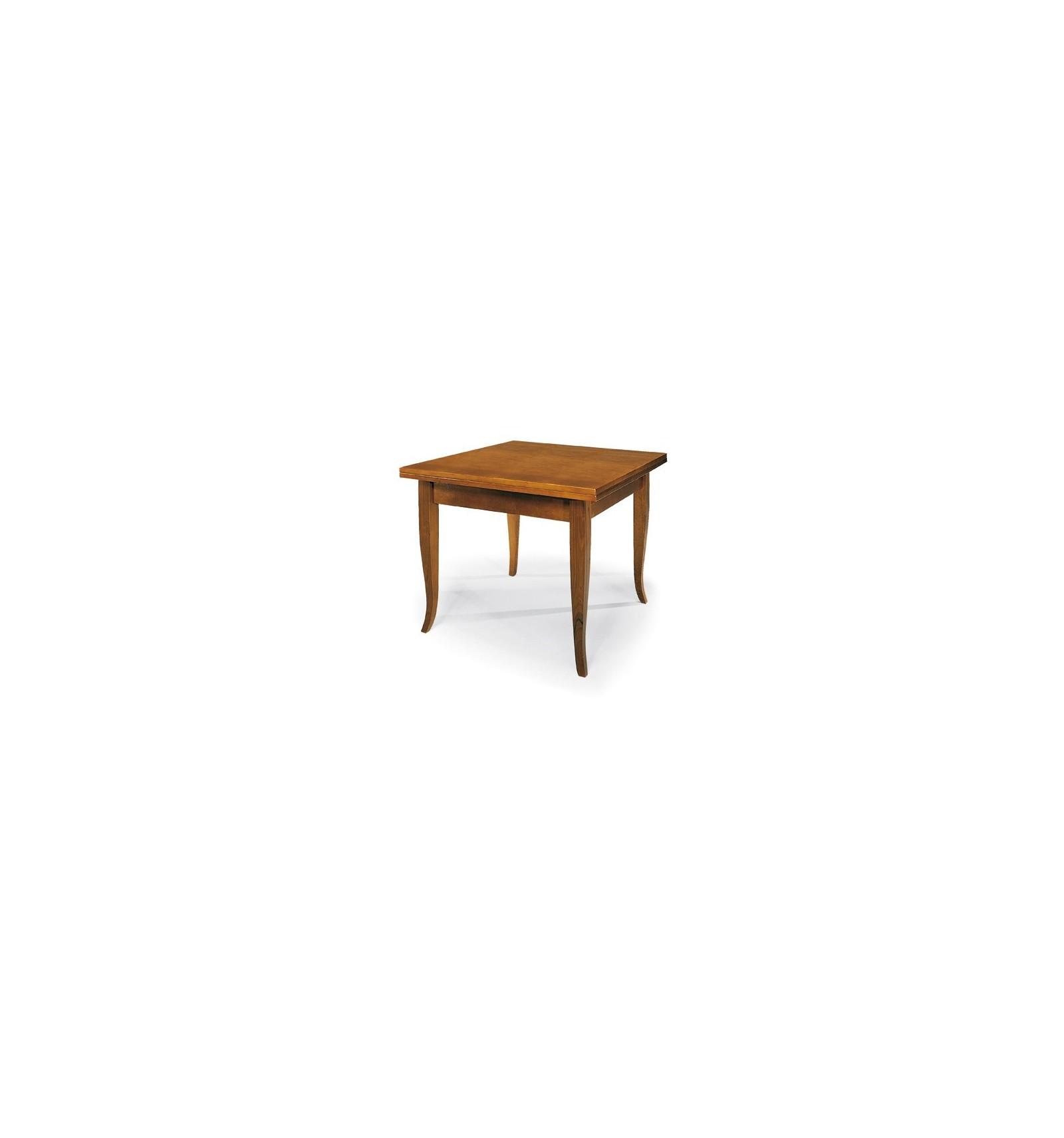Tavolo Quadrato Apribile A Libro.Tavolo Quadrato Allungabile A Libro Classico 100 200 W140 Nc Lo