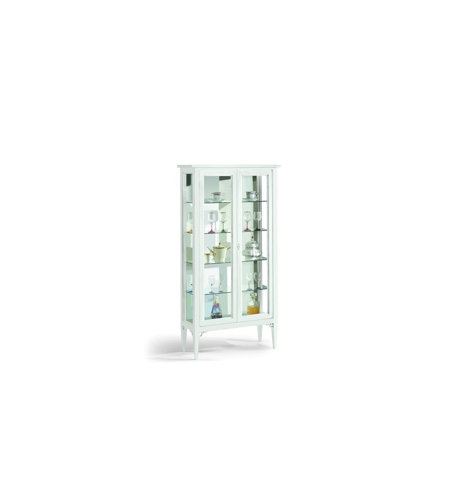 vetrine/cristalliere - lo scrigno arredamenti - Vetrina Soggiorno Bianca 2