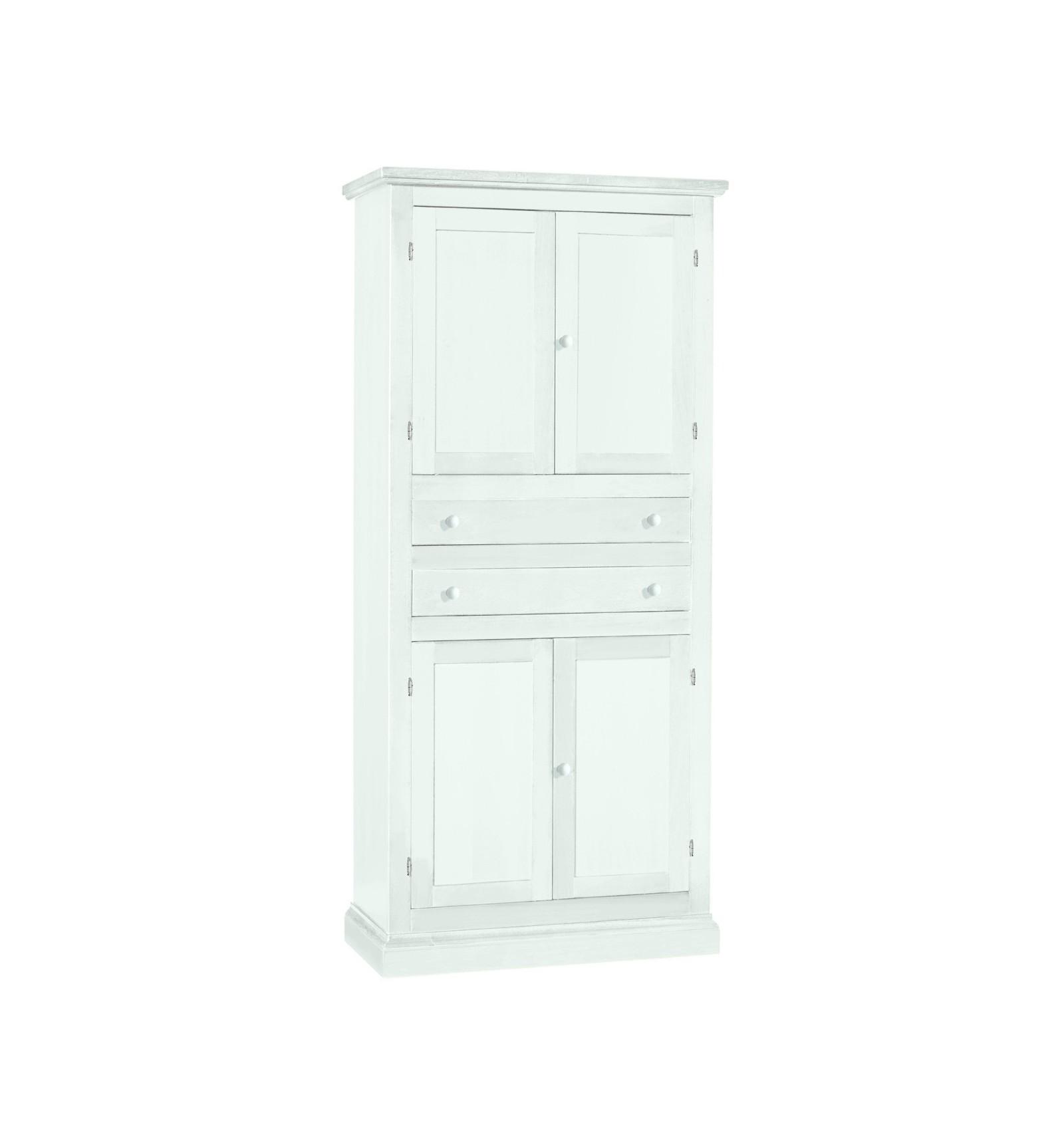 Dispensa/Armadio da cucina 4 porte 2 cassetti laccato bianco W1394/L ...