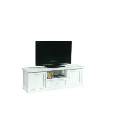 Base porta TV Classica 2 porte 1 cassetto laccato bianco W1003/L ...