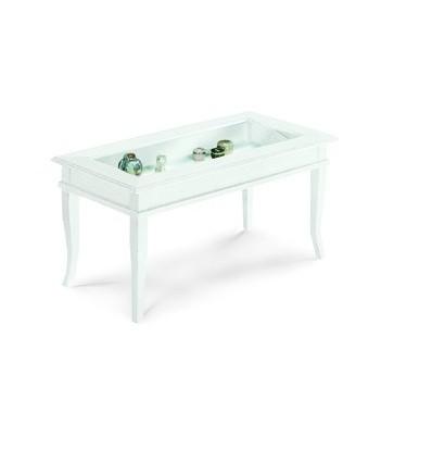 Tavolino rettangolare da salotto Classico con vetro W1014/L