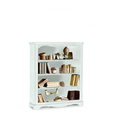 Libreria Classica 4 ripiani laccata bianco W1287/L