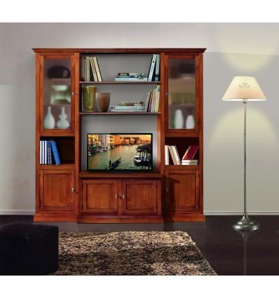Mobile soggiorno componibile classico finitura bassano w582 l lo scrigno arredamenti - Mobili soggiorno classico ...
