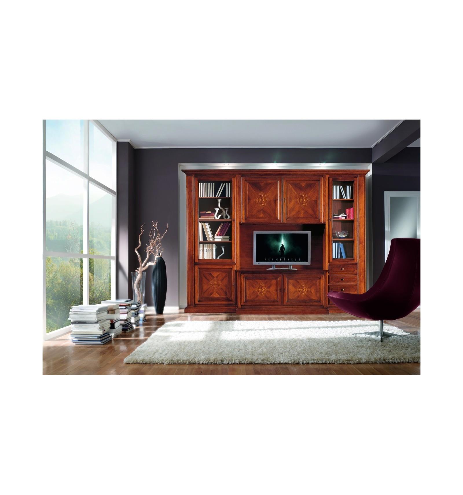 Mobile soggiorno componibile Classico finitura bassano W550/N - Lo Scrigno Arredamenti
