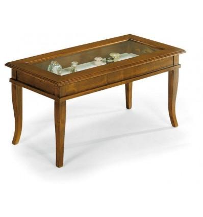 Tavolino rettangolare da salotto Classico con vetro W63/N - Lo ...
