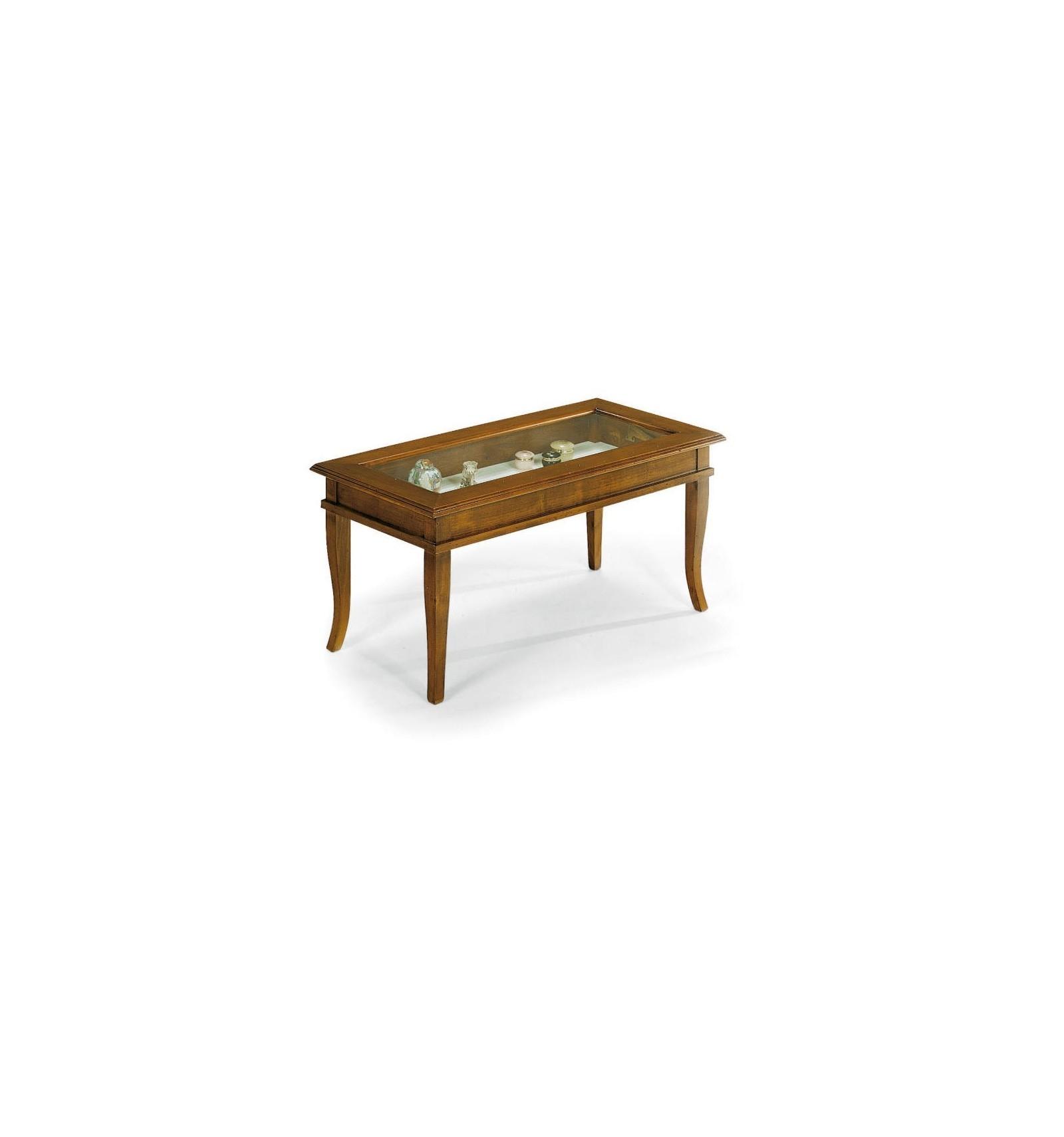 Tavolino Da Soggiorno Rettangolare.Tavolino Rettangolare Da Salotto Classico Con Vetro W63 N