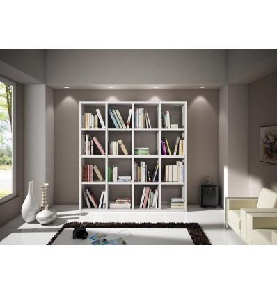 Libreria moderna bianco frassinato w568 m lo scrigno for Offerte librerie moderne