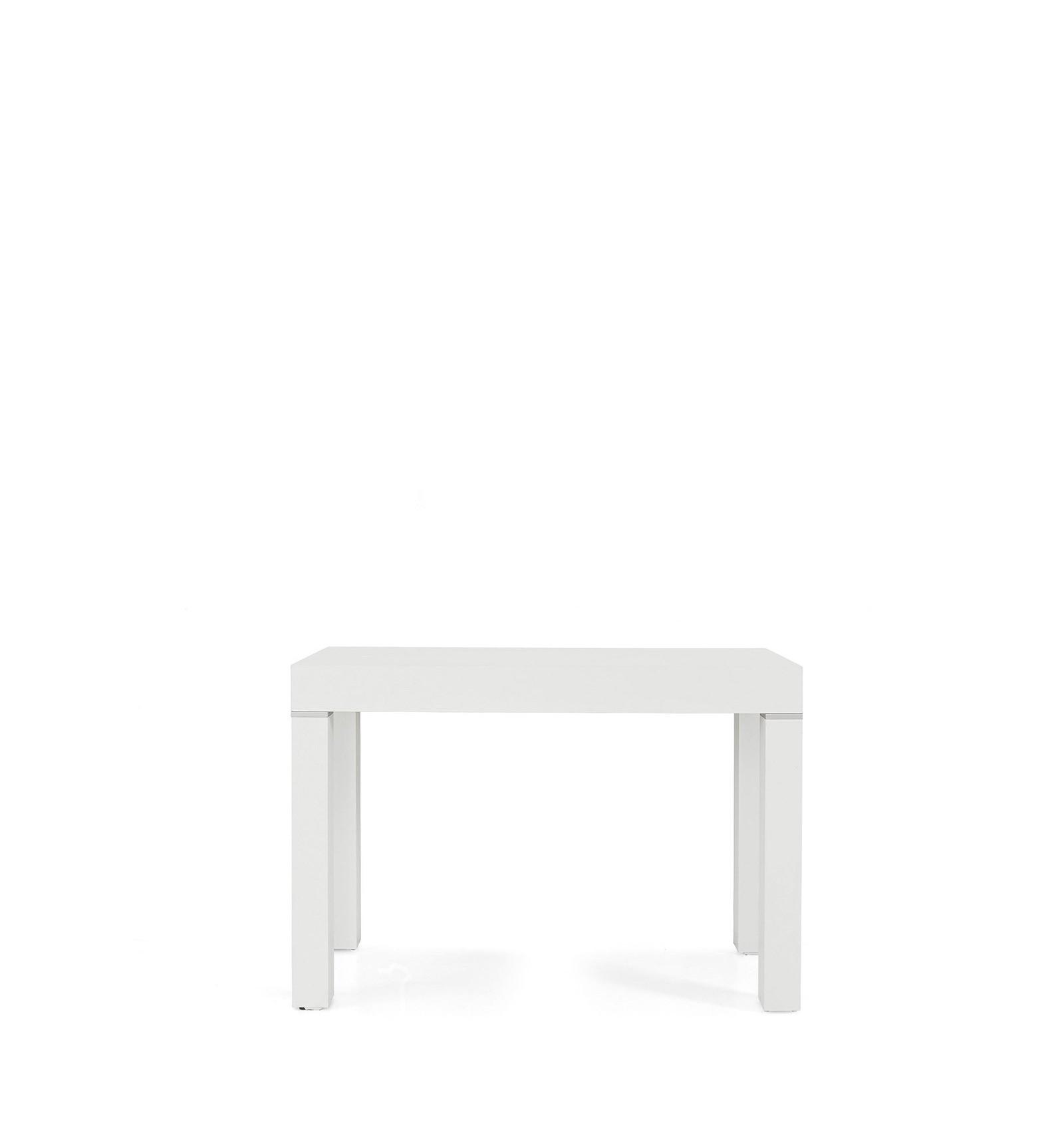 Tavolo Allungabile Consolle Scrigno.Consolle Rettangolare Allungabile Bianco Frassinato 50 300 W600 M