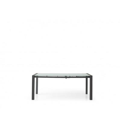 Tavolo rettangolare allungabile piano vetro 120-180 W606/M