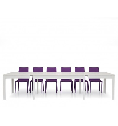 Tavolo rettangolare allungabile bianco frassinato 180-352 W551/M