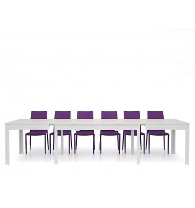 Tavolo rettangolare allungabile bianco frassinato 160-332 W552/M