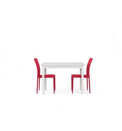 Tavolo rettangolare allungabile bianco frassinato 110-190 W558/M