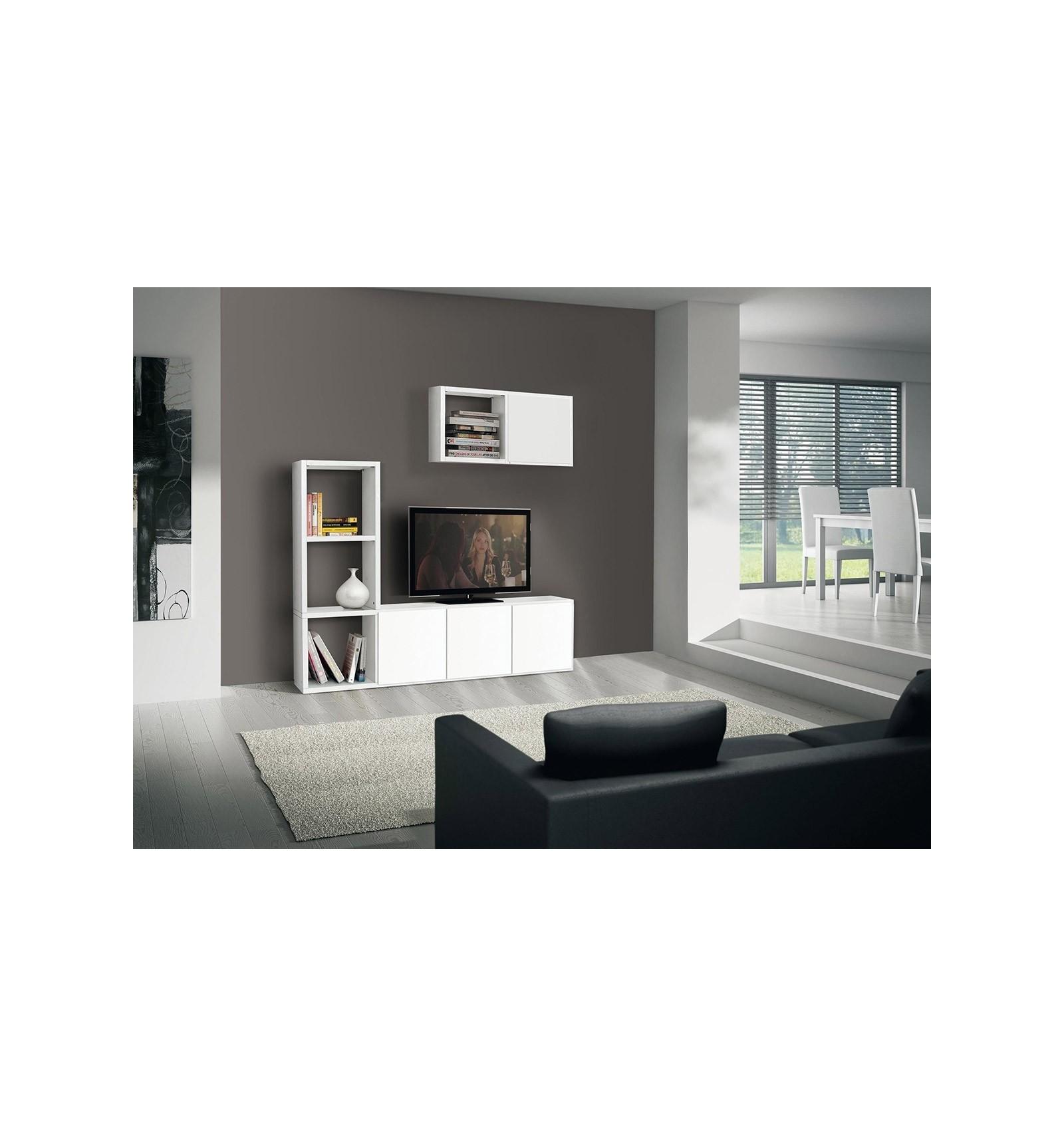 Porta TV Moderno bianco frassinato W569/M - Lo Scrigno Arredamenti