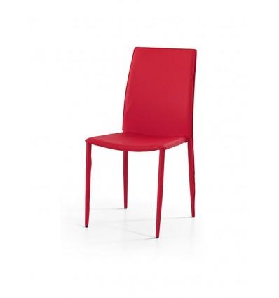 Set 4 sedie moderne ecopelle rosse sedia cucina soggiorno for Sedie moderne cucina