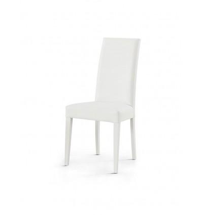 Set 2 sedie moderne ecopelle bianche sedia cucina for Sedie soggiorno moderne