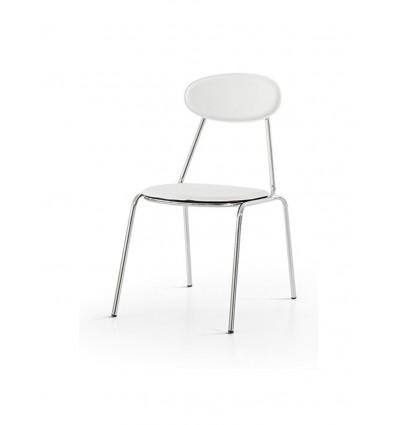 Set 6 Sedie Moderne in metallo Sedia Cucina Sala Soggiorno W619/M