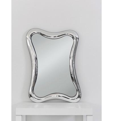 Specchiera rettangolare Moderna sagomata colore argento W626/M