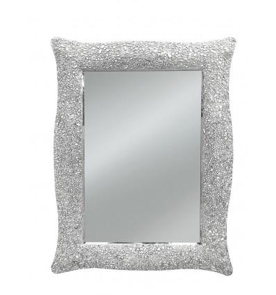 Specchiera rettangolare Moderna colore argento W627/M