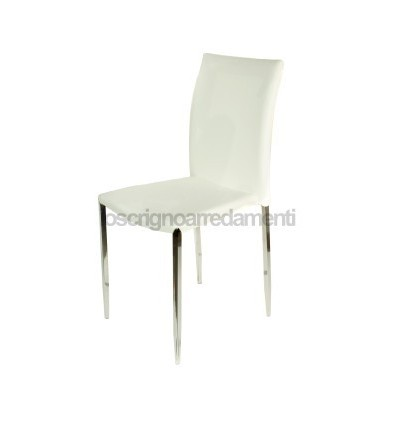 Stunning sedie in ecopelle bianche contemporary for Sedie soggiorno moderne
