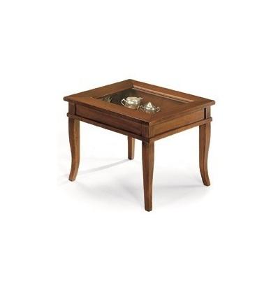Tavolino quadrato da salotto Classico con vetro W64/N - Lo Scrigno ...